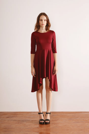 Box Handkerchief Hem Dress