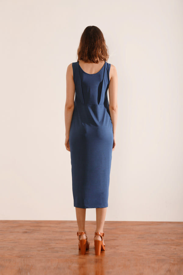 Front Slit Column Dress