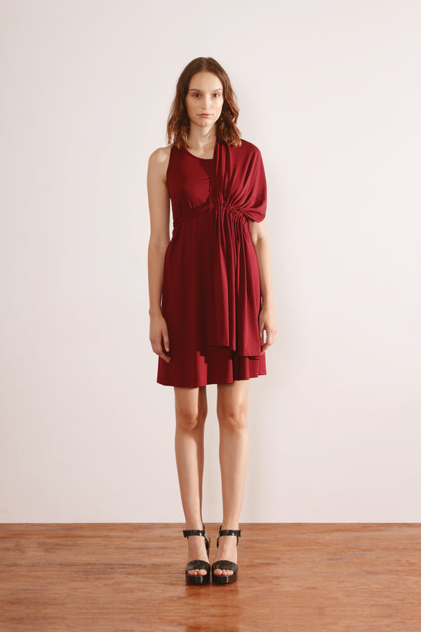 Flip Dress (Dark Red)