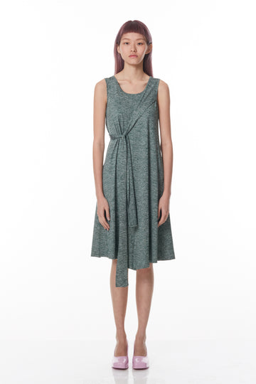Diagonal Sash-Tie Dress