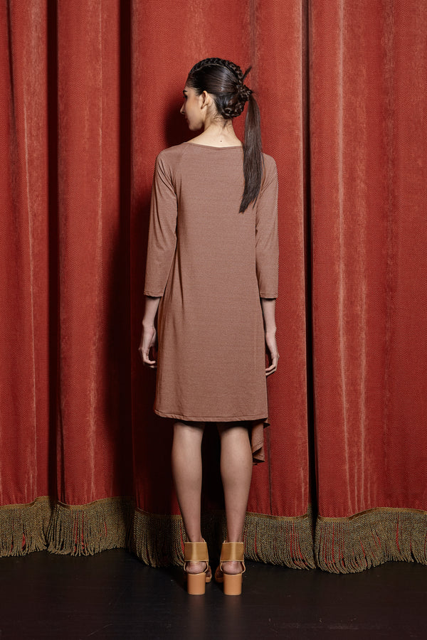 Chopped Hem Raglan Dress
