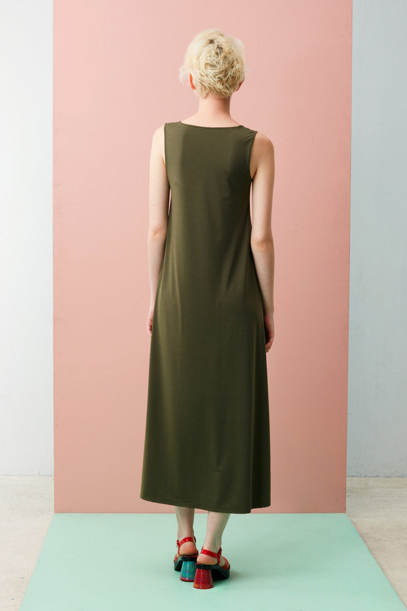 Crescent Maxi Dress (Green)