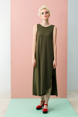 Online Exclusive: Crescent Maxi Dress (Green)