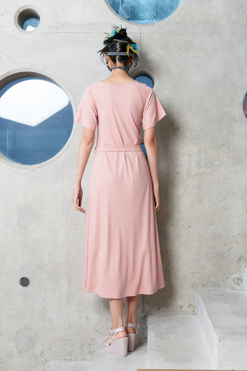 Pinch Tea Dress (Dark Pink)