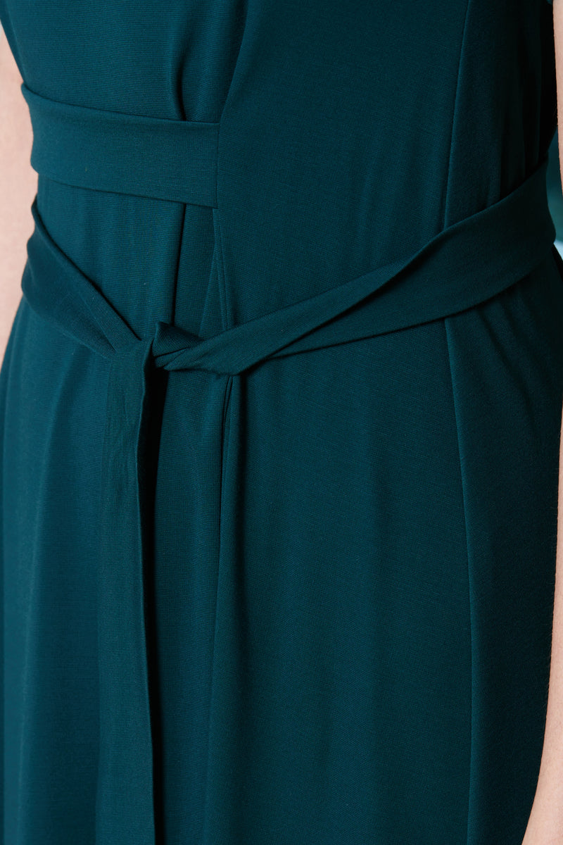 Pinch Tea Dress (Dark Green)