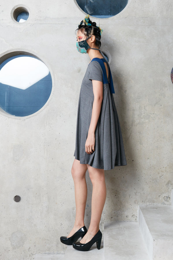 Scoop Back T-Dress (Grey)