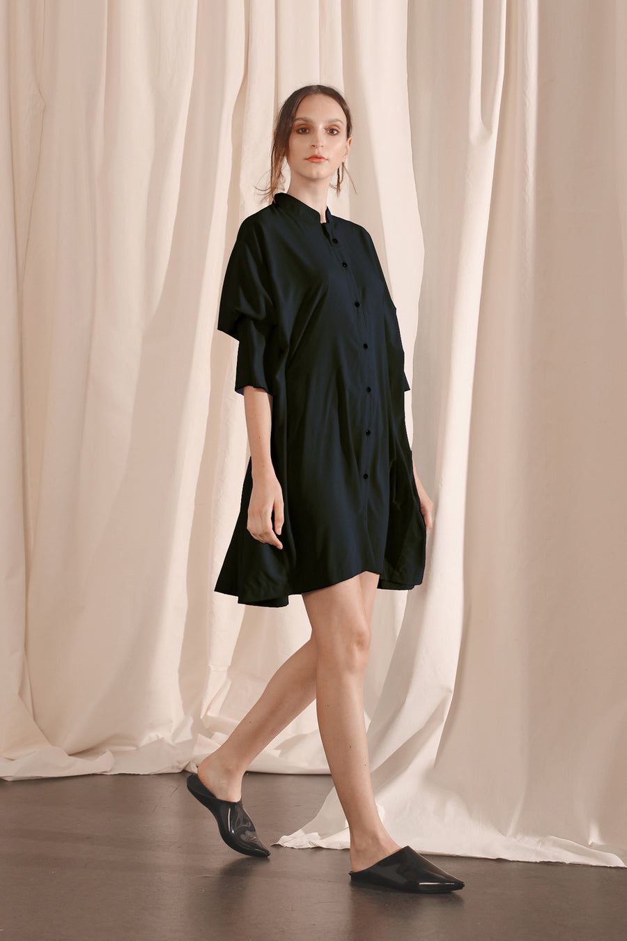 Rectangle Button Down Dress