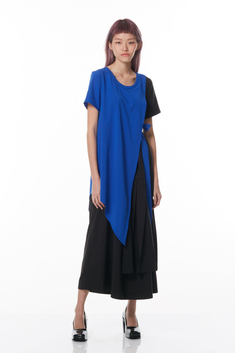 Asymmetrical Layered Maxi (Black)
