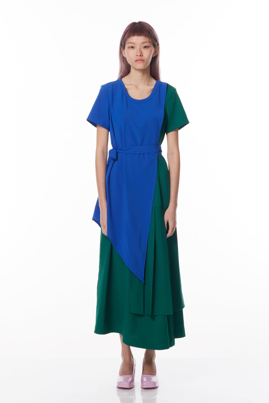 Asymmetrical Layered Maxi (Green)