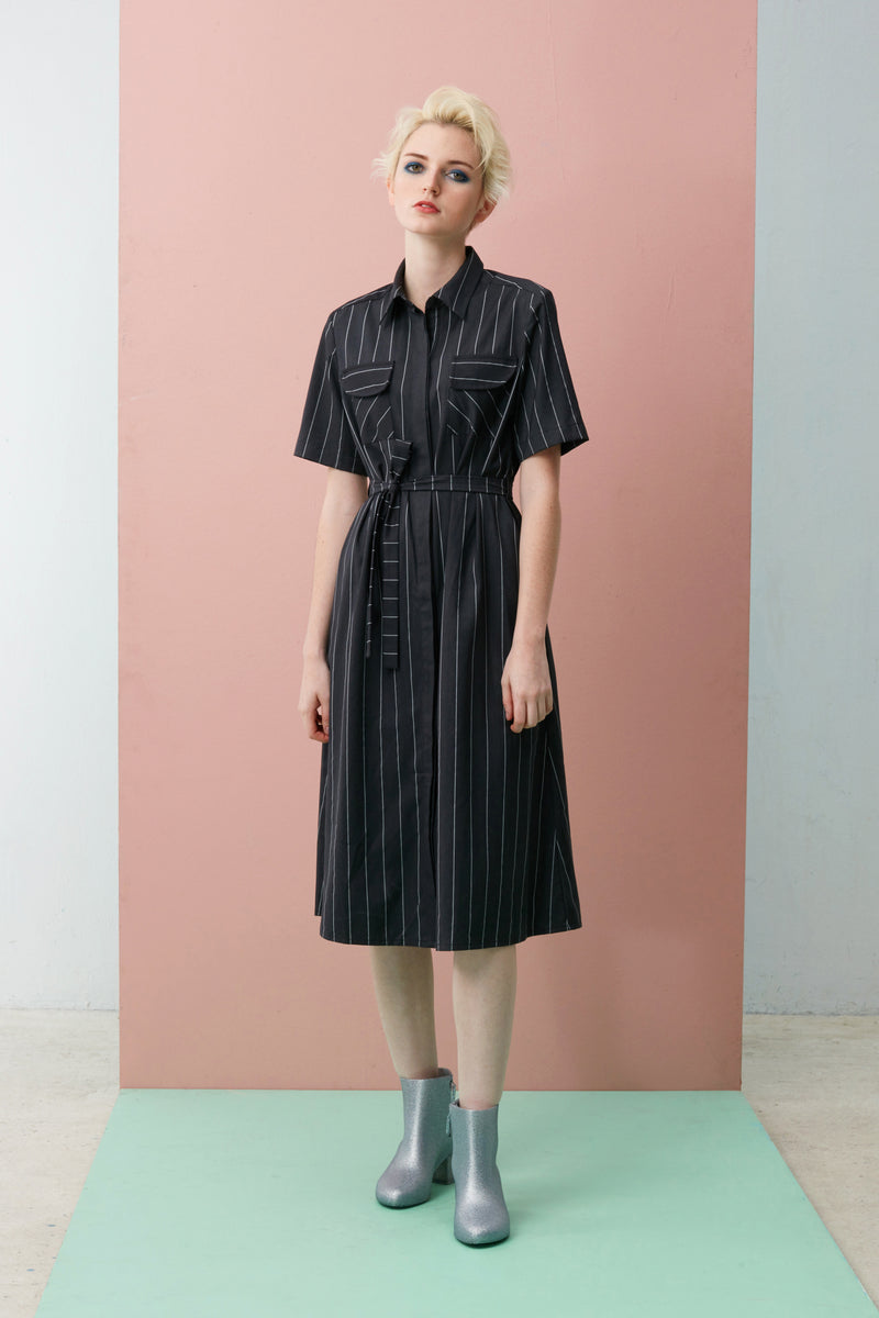 Midi Tailored Shirt Dress
