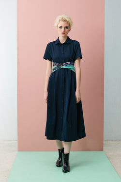 Short Sleeve Maxi With Mint Chilli Crab Obi Sash