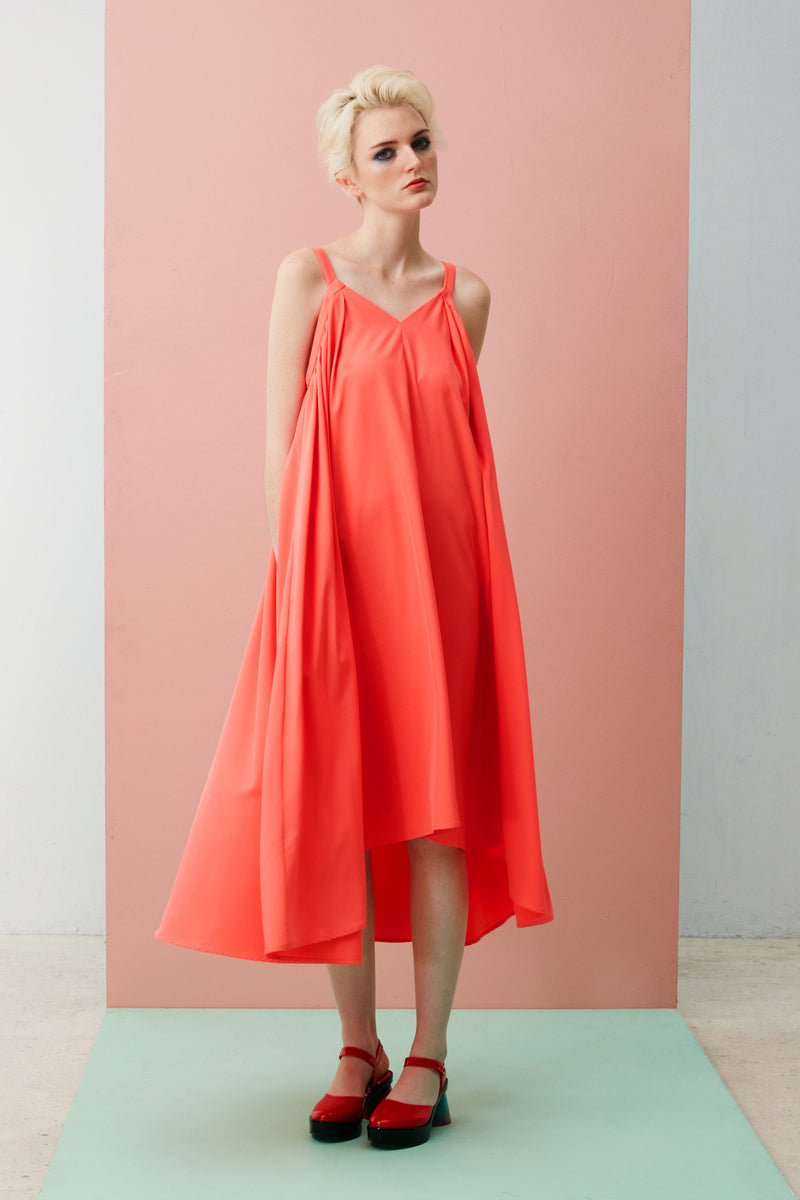 V-Neck Gathered Maxi (Pink)