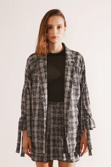 Grey Printed Jacket