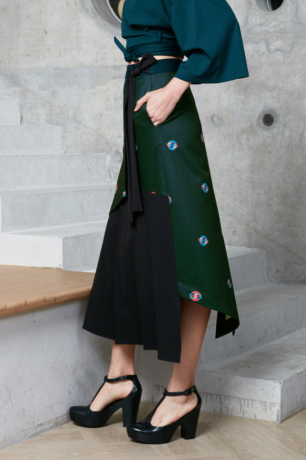 Tuxedo Tail Wrap Skirt midi skirt maxi skirt asymmetrical women skirt reckless ericka