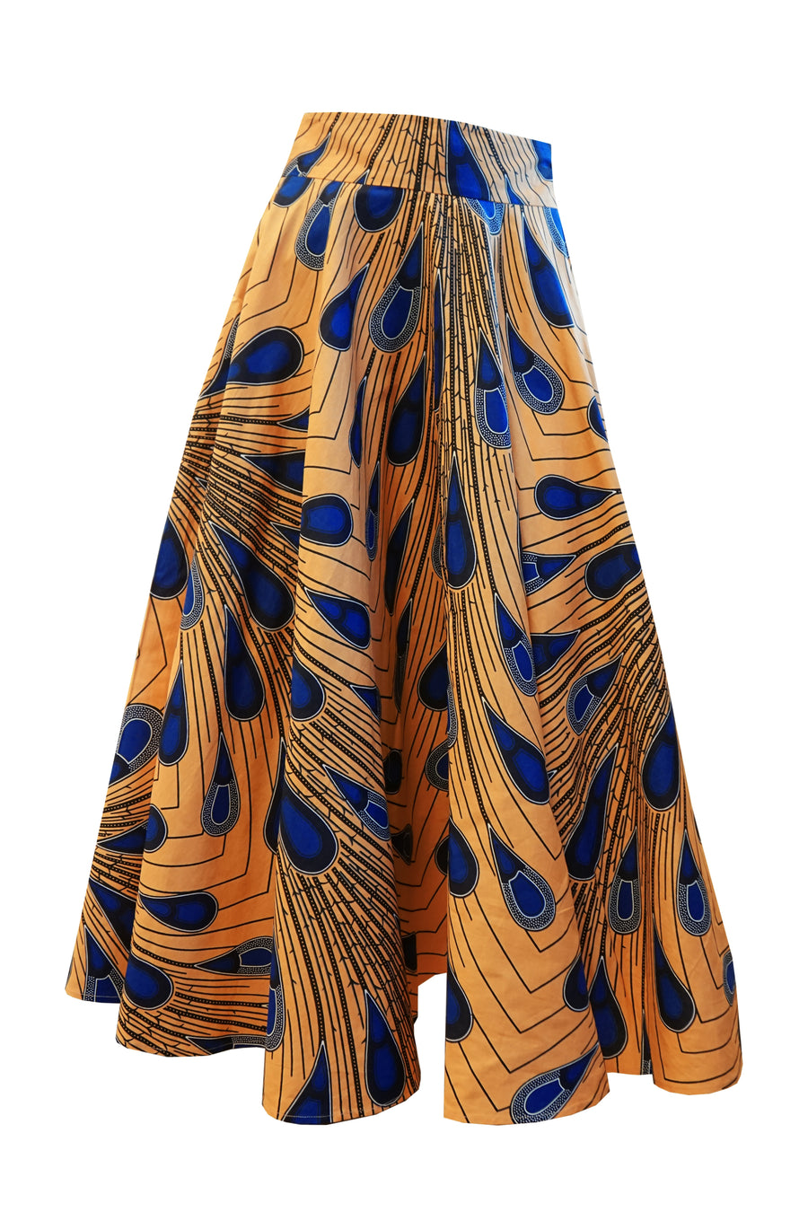 Full Circle Skirt (Apricot-Blue)