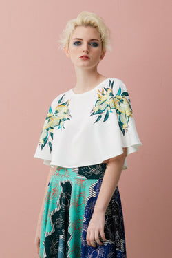 Full Circle Cropped Top (Durian)
