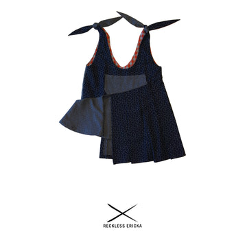 the reckless shop reckless ericka kids navy tie shoulder dress girls children