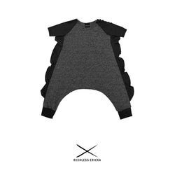 the reckless shop reckless ericka KIDS dark grey romper for children
