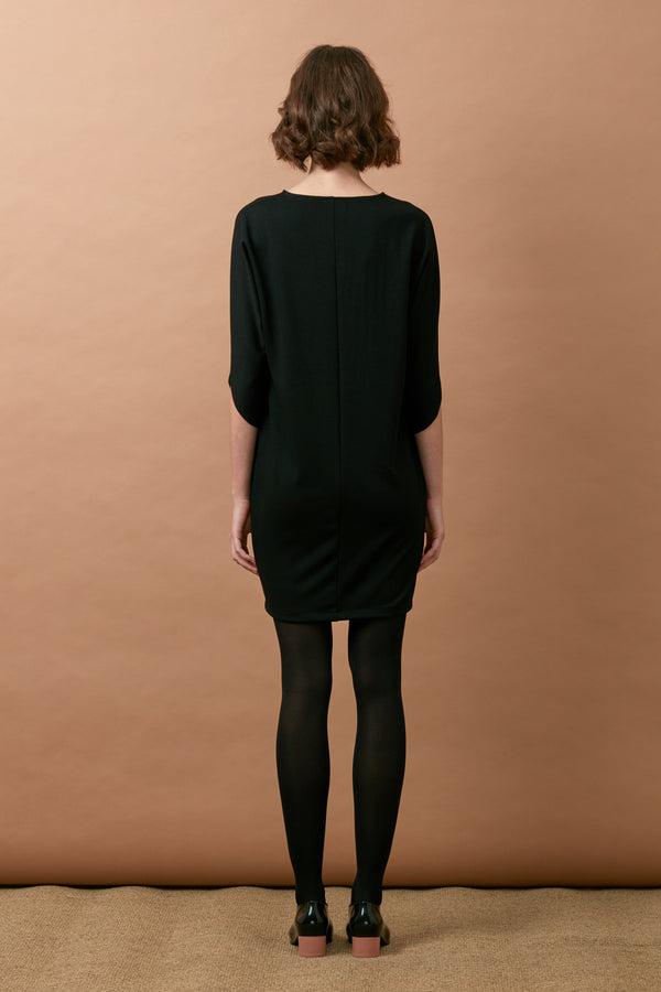Dolman Sleeve Dress (Black)