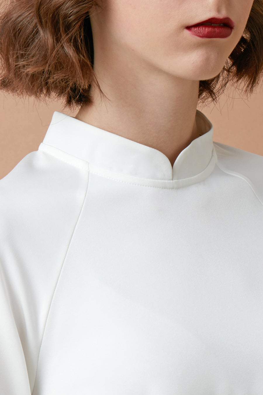 Chinese Collar Swing Top