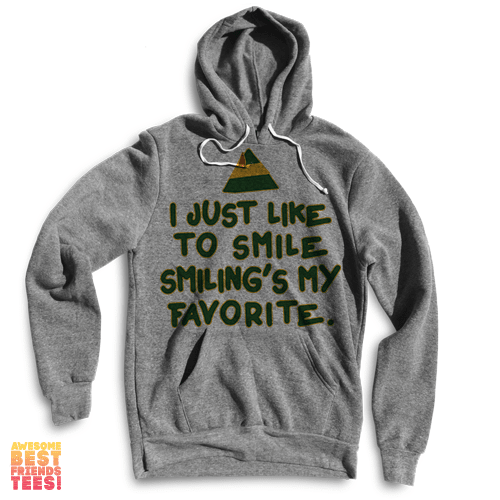I Just Like To Smile, Smiling's My Favorite on a super comfortable Sweaters for sale at Awesome Best Friends' Tees