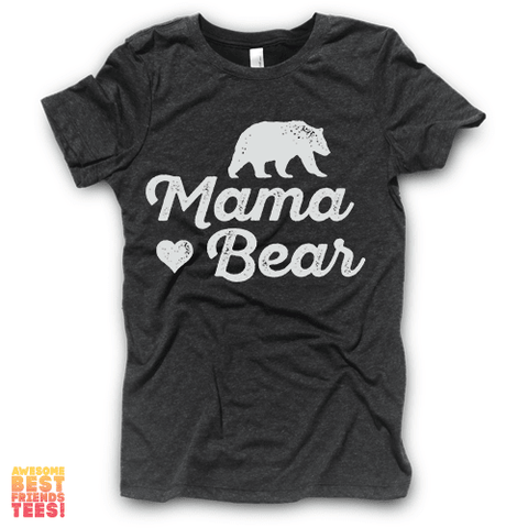Tri Blend Black Mama Bear Shirt