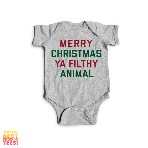 merry christmas ya filthy animal onesie on a super comfortable onesie for sale at awesome - Merry Christmas Ya Filthy Animal Onesie