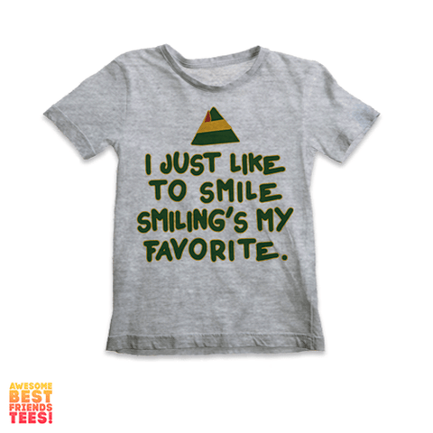 I Just Like To Smile, Smiling's My Favorite | Kids' Tee