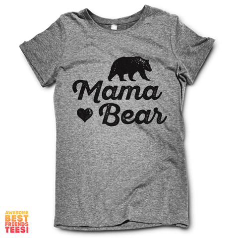 Tri Blend Grey Mama Bear T Shirt