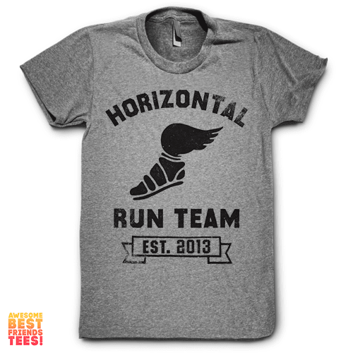 (Sale) Horizontal Running Team on a super comfortable Shirts for sale at Awesome Best Friends' Tees