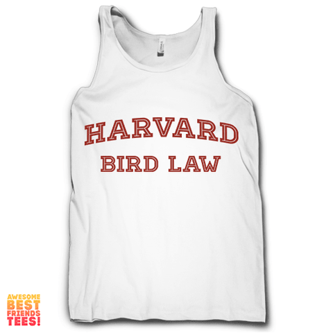 Harvard Bird Law on a super comfortable Tanks for sale at Awesome Best Friends' Tees