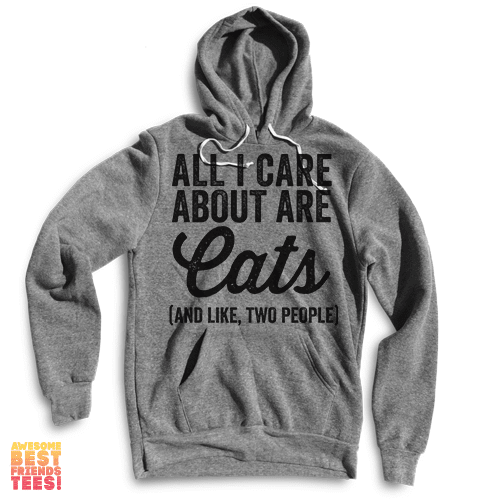 All I Care About Are Cats (And Like, Two People) on a super comfortable Sweaters for sale at Awesome Best Friends' Tees