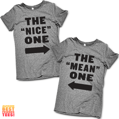"""The """"Nice"""" One, The """"Mean"""" One   Best Friends Shirts"""