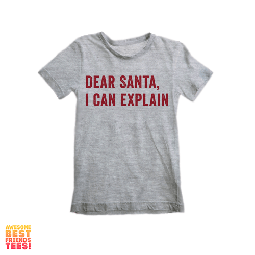 Dear Santa: I Can Explain | Kids' on a super comfy Shirts at Awesome Best Friends' Tees!