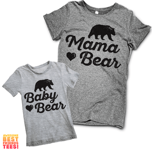Matching Mama Bear Shirt and Baby Bear Toddler T Shirt