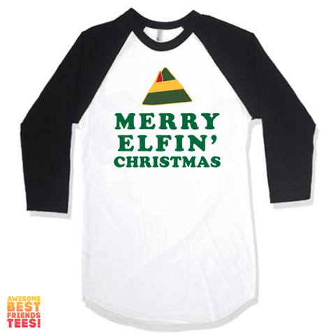 (Sale) Merry Elfin' Christmas on a super comfortable Shirts for sale at Awesome Best Friends' Tees