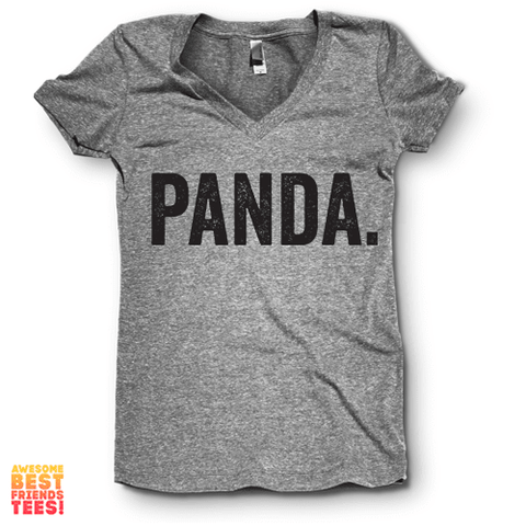 Panda. | V Neck on a super comfy Shirts at Awesome Best Friends' Tees!