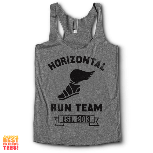 Horizontal Run Team | Racerback on a super comfortable Racerback for sale at Awesome Best Friends' Tees