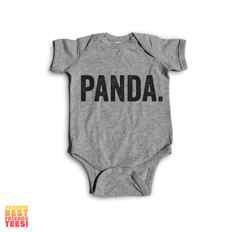 Panda | Onesie on a super comfy Onesie at Awesome Best Friends' Tees!