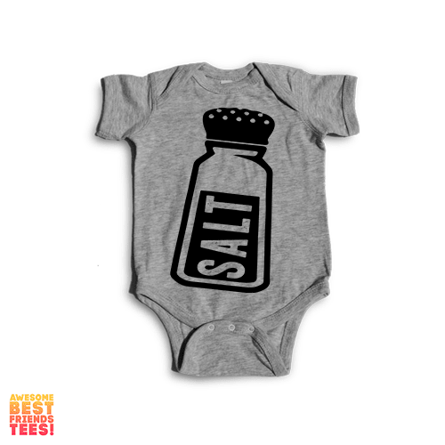 Salt | Onesie on a super comfortable Onesie for sale at Awesome Best Friends' Tees