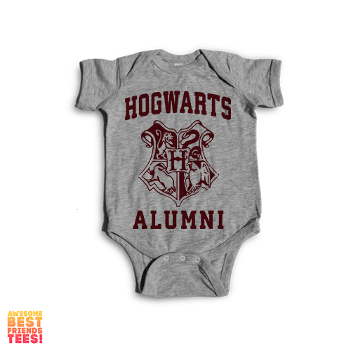 Hogwarts Alumni | Onesie on a super comfortable Onesie for sale at Awesome Best Friends' Tees