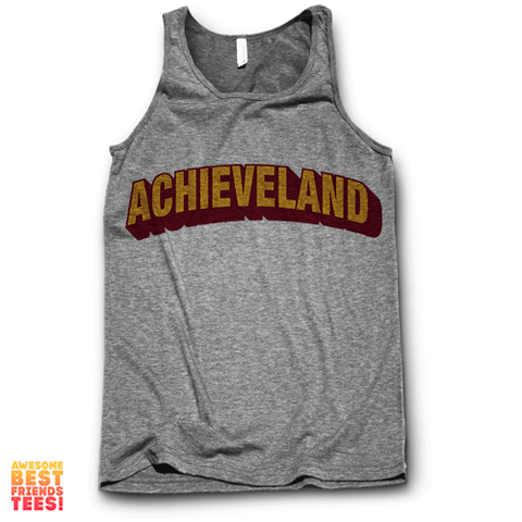 Achieveland on a super comfortable Tanks for sale at Awesome Best Friends' Tees