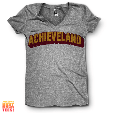 Achieveland | V Neck on a super comfy Shirts at Awesome Best Friends' Tees!