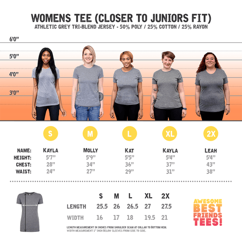 (Template) Women's Pairs Athletic Grey on a super comfortable Shirts for sale at Awesome Best Friends' Tees