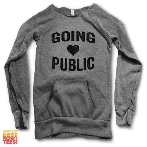 Going Public | Maniac Sweater on a super comfortable Sweaters for sale at Awesome Best Friends' Tees