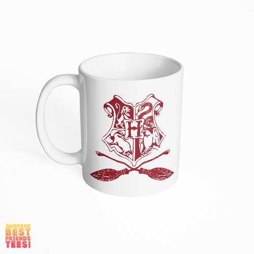 Hogwarts Quidditch on a super comfortable mug for sale at Awesome Best Friends' Tees