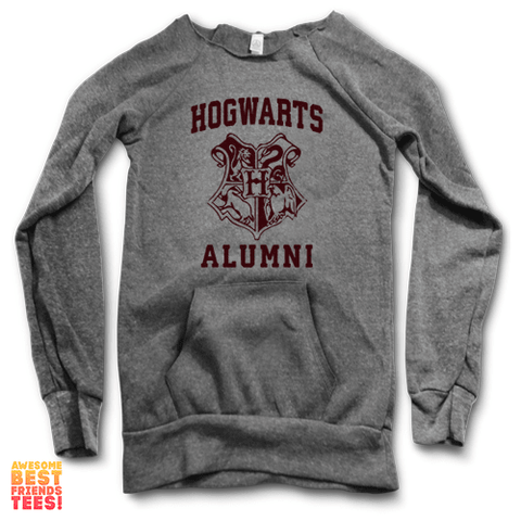 Hogwarts Alumni | Maniac Sweater on a super comfortable Sweaters for sale at Awesome Best Friends' Tees