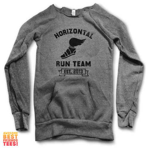 Horizontal Running Team | Maniac Sweater on a super comfortable Sweaters for sale at Awesome Best Friends' Tees