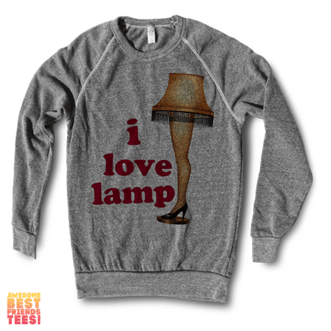 I Love Lamp | Crewneck Sweatshirt on a super comfortable Sweaters for sale at Awesome Best Friends' Tees
