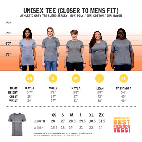 (Template) Unisex Pairs Athletic Grey on a super comfortable Shirts for sale at Awesome Best Friends' Tees